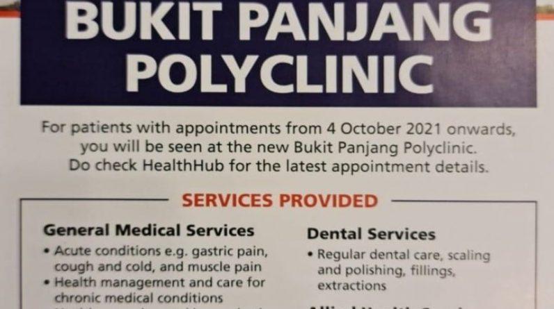 Bukit Panjang Polyclinic Opening in October 2021